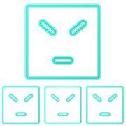 Color line anger logo design set - stock illustration