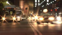 Atlanta night city traffic time lapse - stock footage