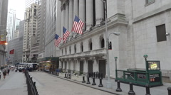 New York Stock Exchange Buildind Stock Footage
