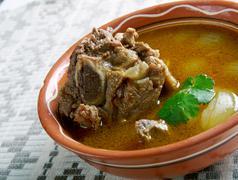 Mutton Paya Pakistani soups Stock Photos