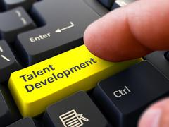 Talent Development - Concept on Yellow Keyboard Button - stock illustration