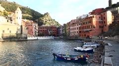 Beautiful cinque terre in liguria Italy Stock Footage