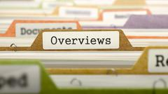 Overviews - Folder Name in Directory Stock Illustration