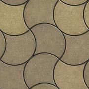 Decorative Wavy Pavement Slabs in Beige Tones Stock Illustration
