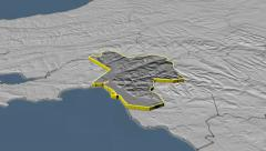 Neath Port Talbot - county of Wales (UK) extruded. Set of four animations Stock Footage