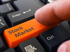 Stock Illustration of Stock Market - Concept on Orange Keyboard Button