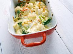 Transylvanian Cauliflower Casserole Stock Photos