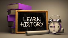 Learn History. Motivational Quote on a Blackboard Stock Illustration