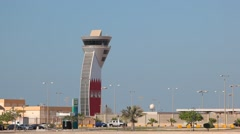 Stock Video Footage of Control Tower of the Bahrain International Airport