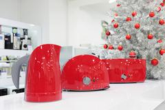 Home appliances store at Christmas - stock photo