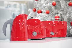 Home appliances store at Christmas Stock Photos