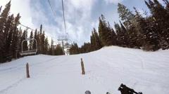 Alpine skiing at Loveland Basin Stock Footage