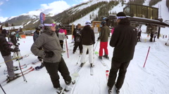 Alpine skiing at Loveland Basin Stock Footage