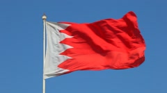 Stock Video Footage of National Flag of Kingdom of Bahrain