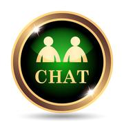 Stock Illustration of Chat icon. Internet button on white background..