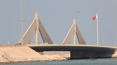 Causeway Bridge in Manama, Kingdom of Bahrain - stock footage