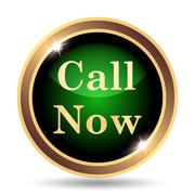 Stock Illustration of Call now icon. Internet button on white background..