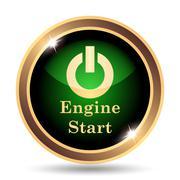 Engine start icon. Internet button on white background.. - stock illustration