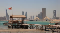 Skyline of Manama, Bahrain - stock footage
