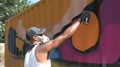 Graffiti Artist Stock Footage