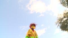 Man on stilts 1 - stock footage