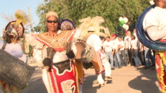 Masked Parade Band  Stock Footage