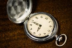 Stock Photo of pocket watch. vintage artifact