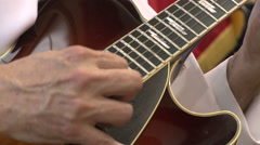 Jazz musician playing guitar Stock Footage