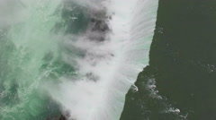 4k cinematic epic aerial of niagara falls at sunrise Stock Footage