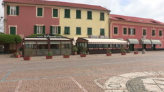 Square of Fishermen in Chiavari Stock Footage