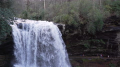 Scenes of the Dry Falls in Nantahala National Forest Stock Footage