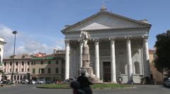 """The facade of the church """"Nostra Signora dell'Orto """" in Chiavari Stock Footage"""