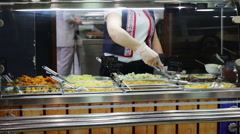 Stock Video Footage of Ready To Eat Prepared Food At cafe