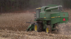 Stock Video Footage of Scenes of harvesting corn