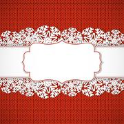 Red  knitted background - stock illustration