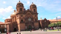 Iglesia de la Compania de Jesus - Church of the Society of Jesus, Cuzco, Peru Stock Footage
