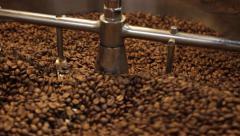 Coffee Bean Stir Stock Footage