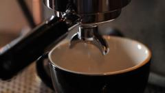Espresso Maker Brew Close Up Stock Footage