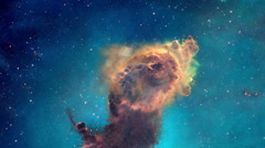 Carina Nebula in 3 Dimensions -HD Stock Footage