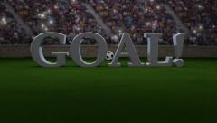 Soccer Goal Crowd Background Stock Footage