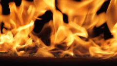 Glass Fire Side - stock footage