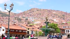 Plaza de Armas in Cusco, Peru Stock Footage