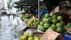 Orange in Cantho market Stock Footage