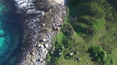 Aerial view of dangerous coastline - stock footage
