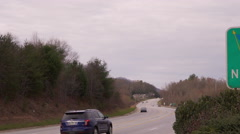 View of the Welcome to North Carolina Sign Stock Footage