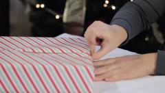 Tilt and Tape Gift - stock footage