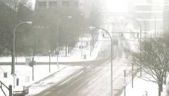 Winter Traffic Timelapse Still Stock Footage