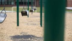 Stock Video Footage of Swing Fast School Background Selective Focus