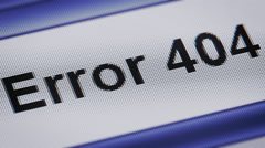 Error 404 Stock Footage