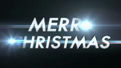 Merry Christmas Text Animation and Lights, with Alpha Channel, Loop, 4k Stock Footage
